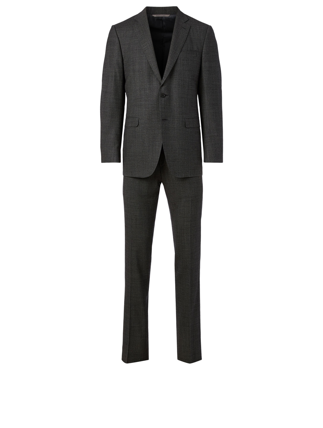 CANALI Modern Fit Wool Two-Piece Suit In Chevron Men's Black