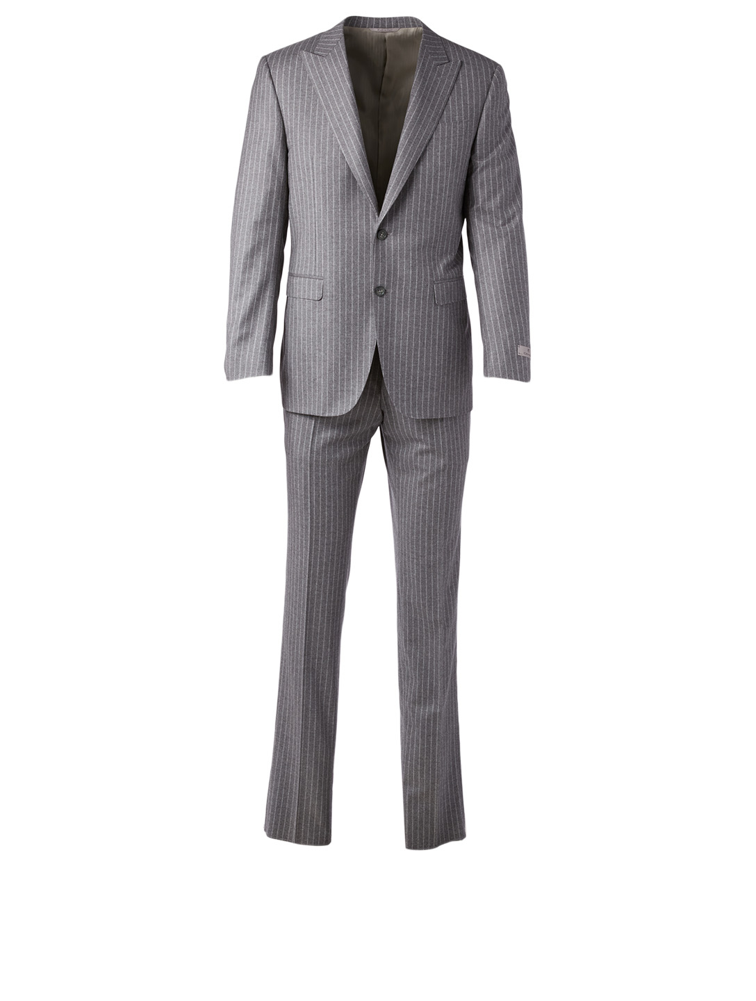 CANALI Wool Two-Piece Suit In Chalk Stripe Men's Grey