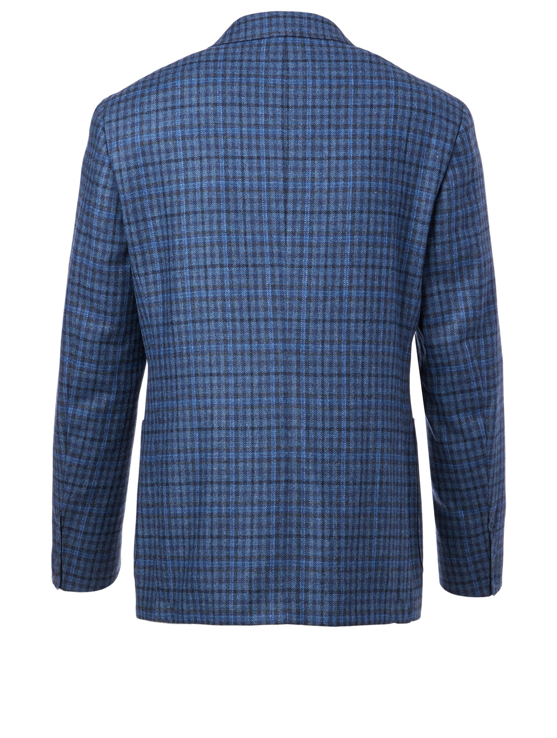 CANALI Wool-Blend Jacket In Check Men's Blue