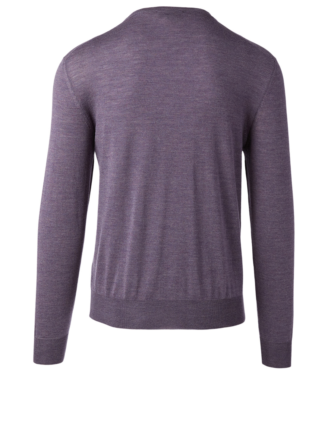 CANALI Wool V-Neck Sweater Men's Purple