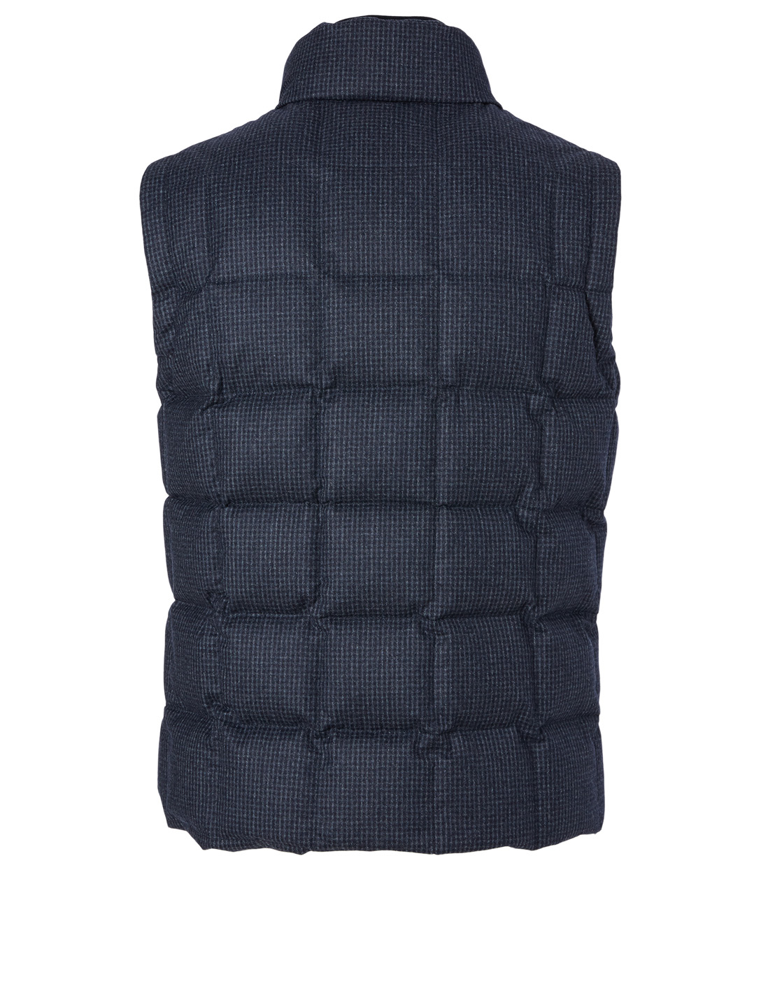CANALI Wool Puffer Vest In Check Men's Blue