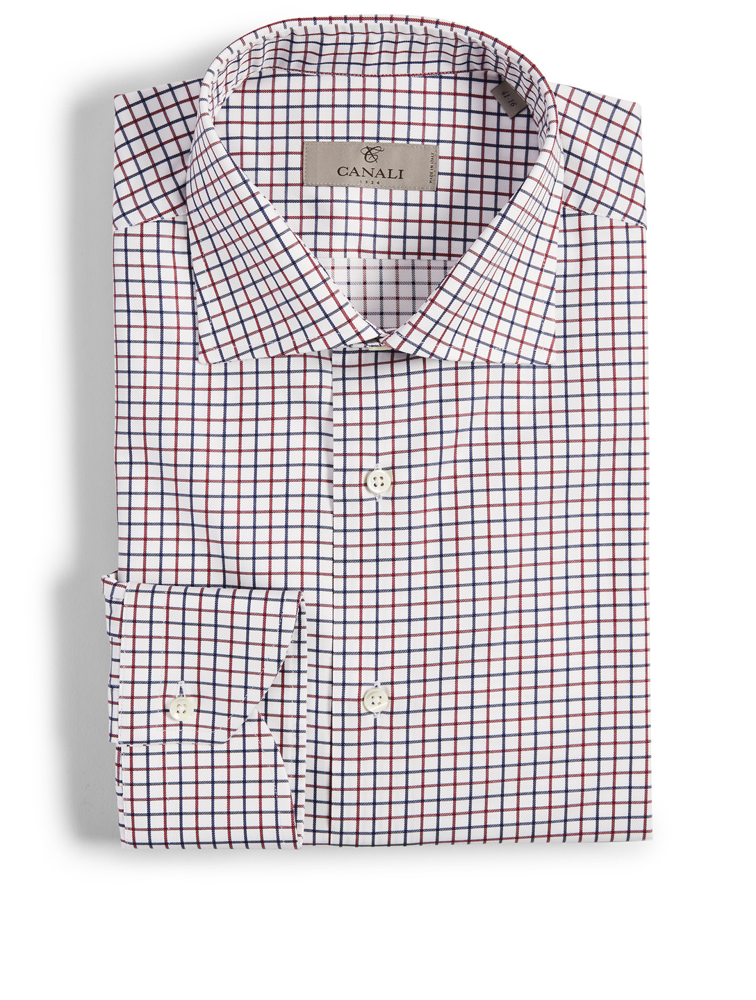 CANALI Dress Shirt In Grid Check Men's Multi