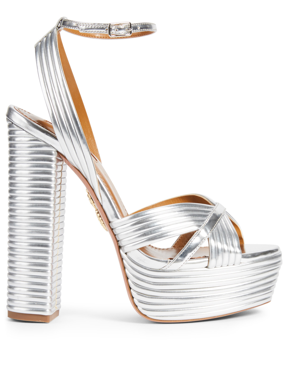 960b8bd768 AQUAZZURA Sundance Plateau 140 Platform Sandals Women's Silver ...