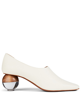 NEOUS Orchis Leather Pumps Women's White