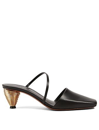 NEOUS Pteros Leather Coil Mules Women's Black