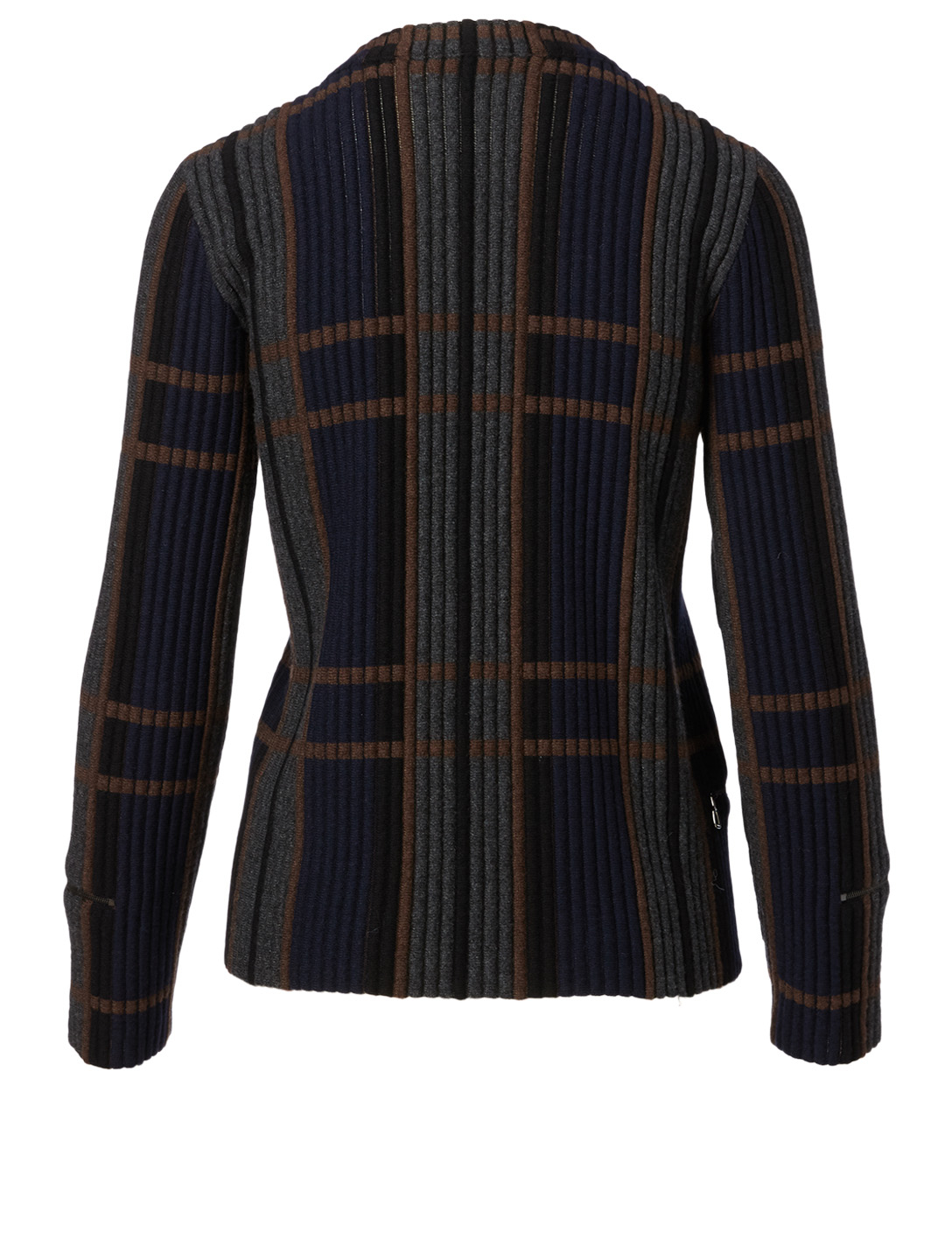 AKRIS Cashmere and Silk Sweater In Plaid Print Women's Blue