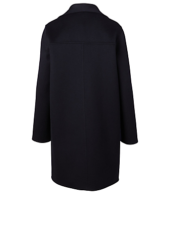 AKRIS Cashmere Double-Breasted Coat Women's Blue