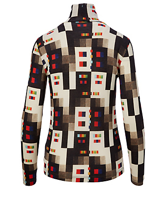 AKRIS Cashmere And Silk Printed Top Women's Multi