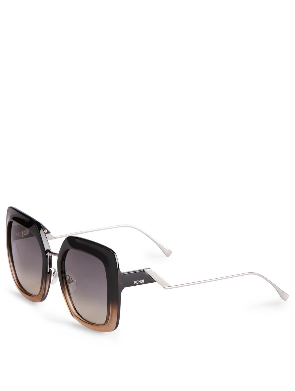 7c99d977781cf ... FENDI Tropical Shine Square Sunglasses Women s Black