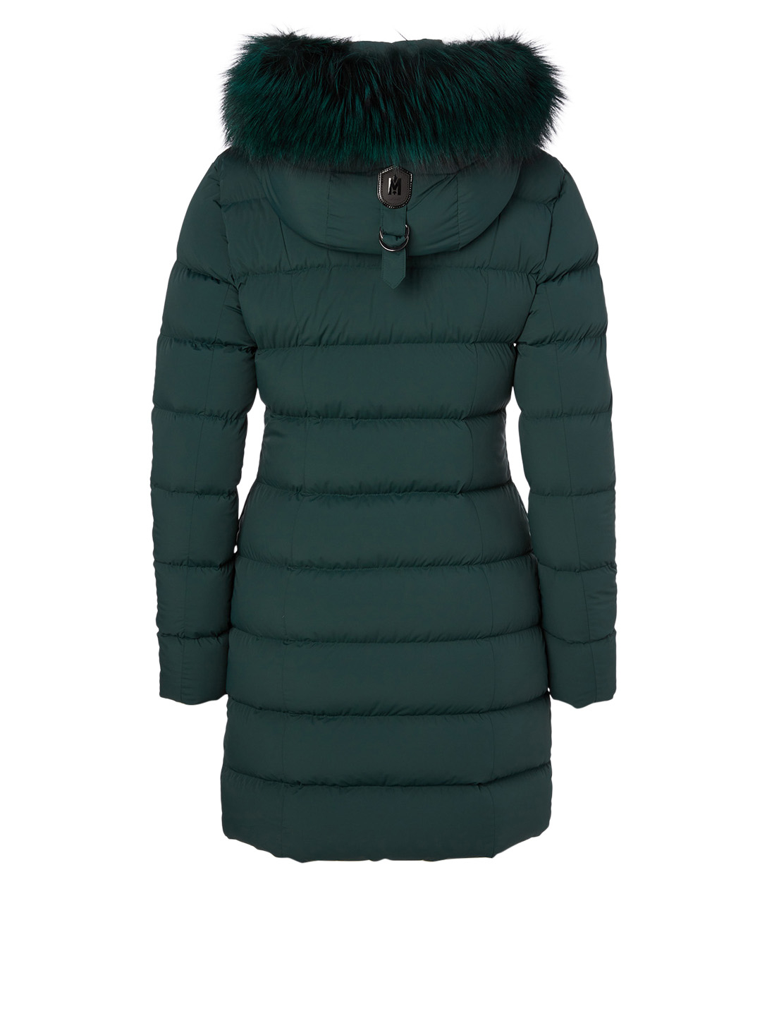MACKAGE Calla Down Coat With Silver Fox Hood Women's Green