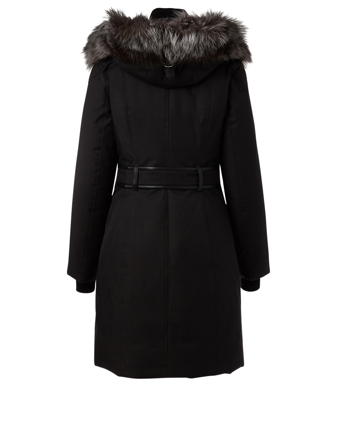 MACKAGE Harlowe Down Parka With Silver Fox Hood Women's Black