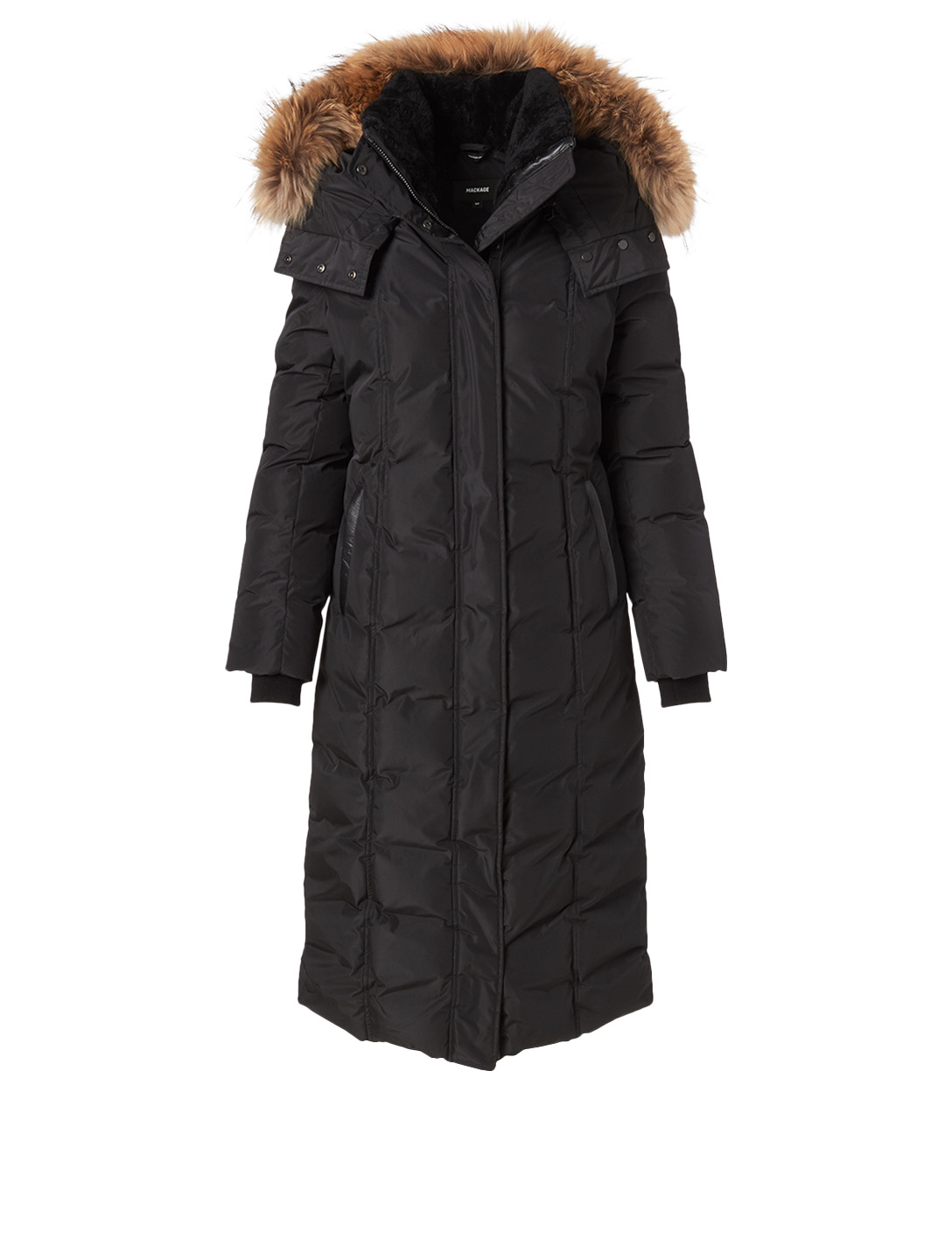 MACKAGE Jada Down Coat With Fur Hood Women's Black