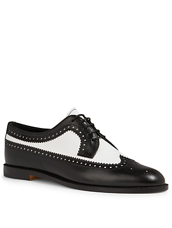 MANOLO BLAHNIK Lollo Leather Derby Brogues Women's Multi