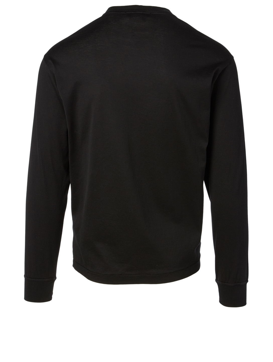 STONE ISLAND Long Sleeve T-Shirt Men's Black