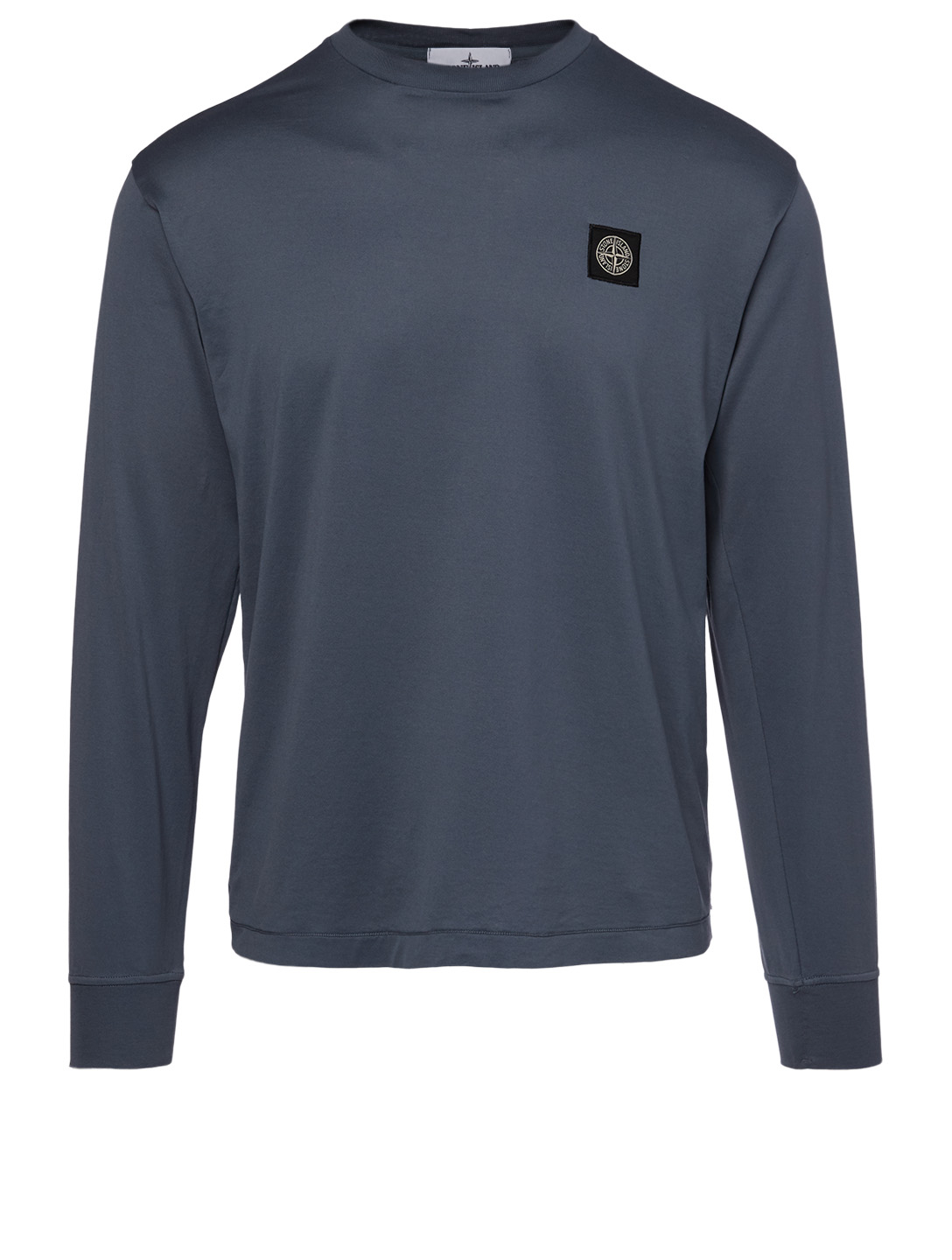 STONE ISLAND Cotton Long-Sleeve T-Shirt Men's Blue