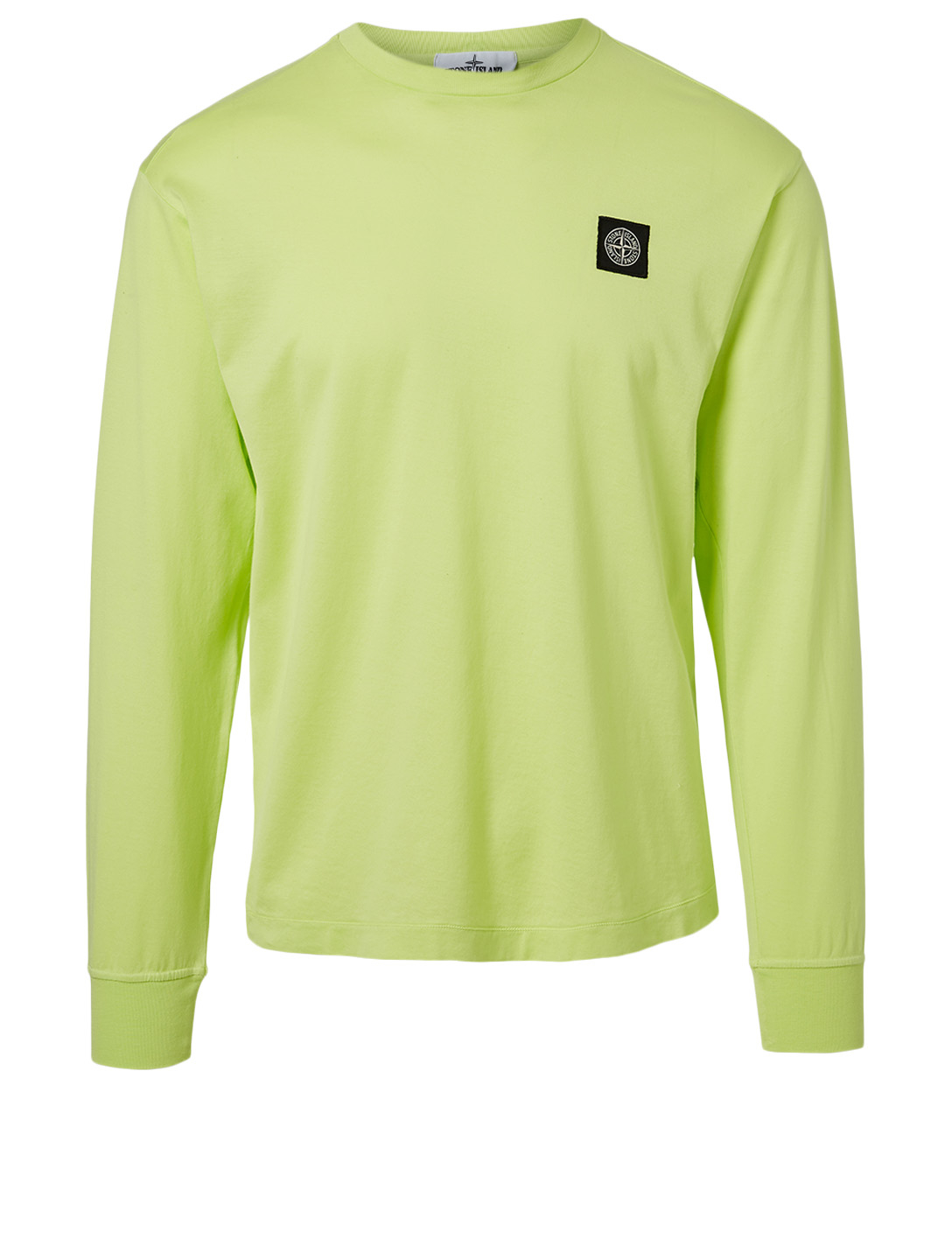 STONE ISLAND Cotton Long-Sleeve T-Shirt Men's Yellow