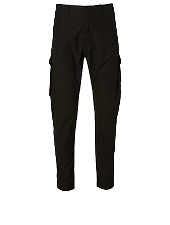 STONE ISLAND Cotton Cargo Pants Men's Black