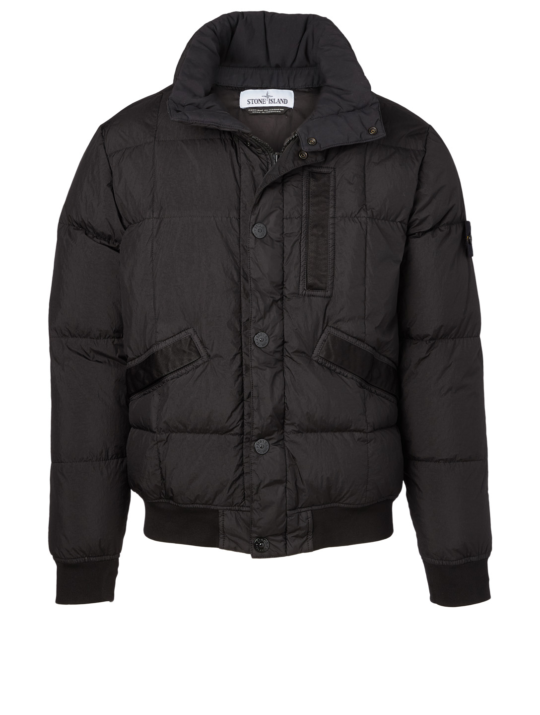 STONE ISLAND Garment Dyed Nylon Down Jacket Men's Black