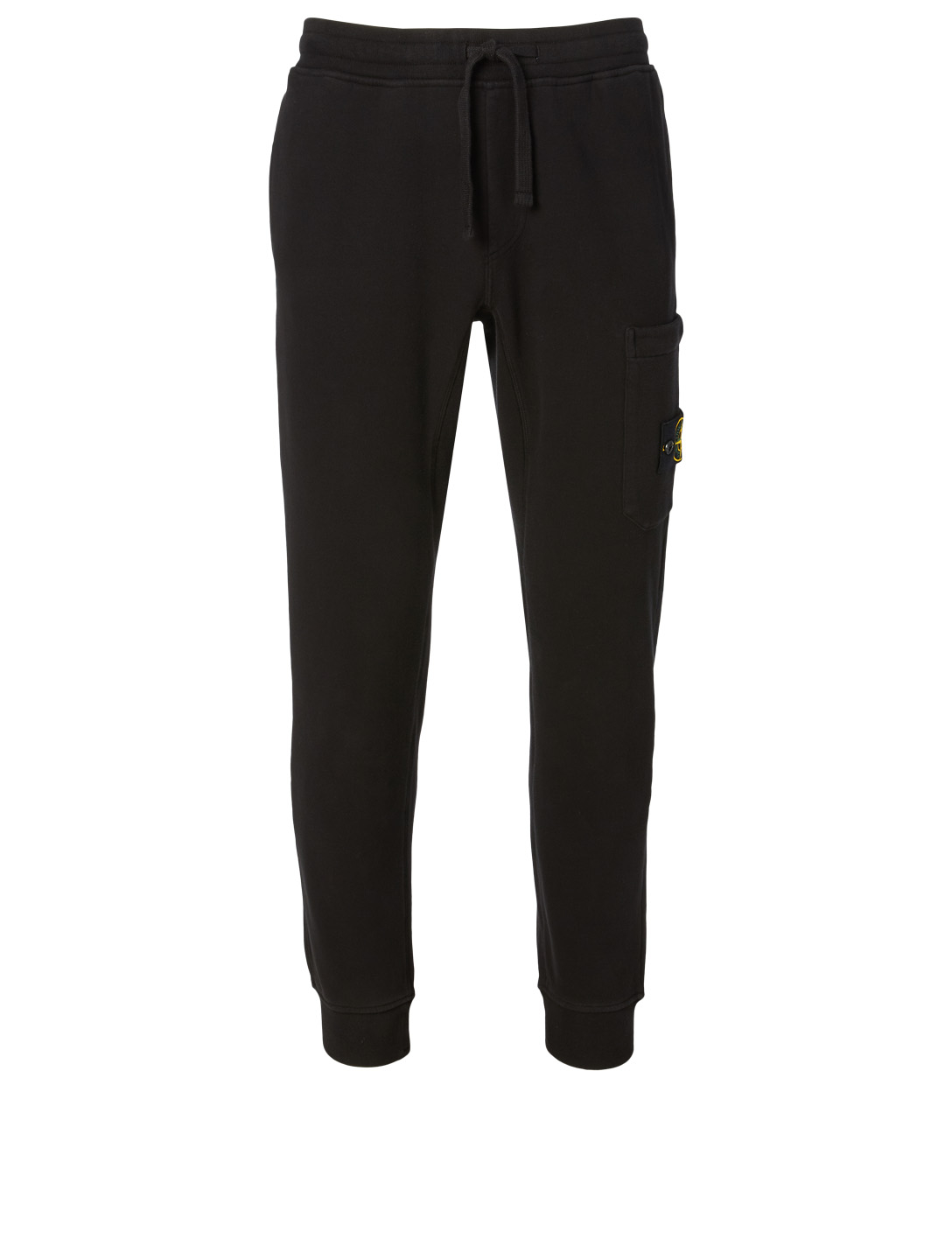 STONE ISLAND Fleece Jogger Pants Men's Black
