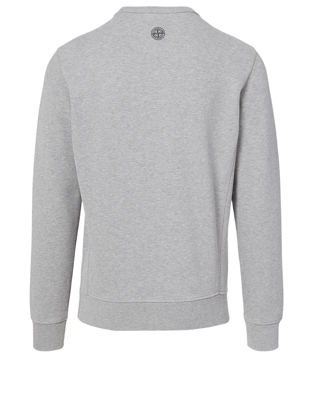 STONE ISLAND Cotton Sweatshirt With Faded Logo Men's Grey