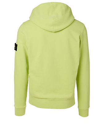 STONE ISLAND Fleece Hoodie Men's Yellow