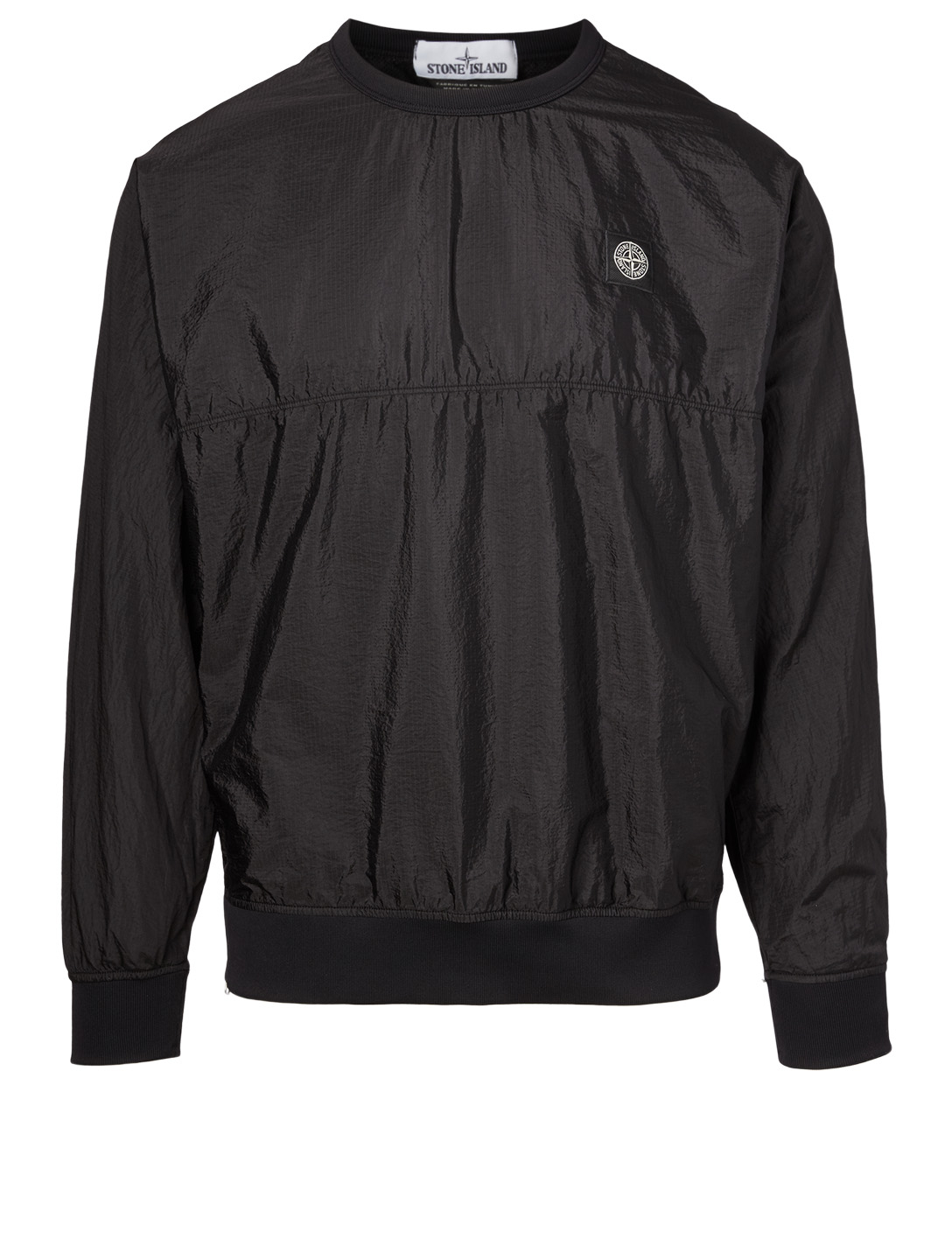 STONE ISLAND Nylon Track Sweatshirt Men's Black