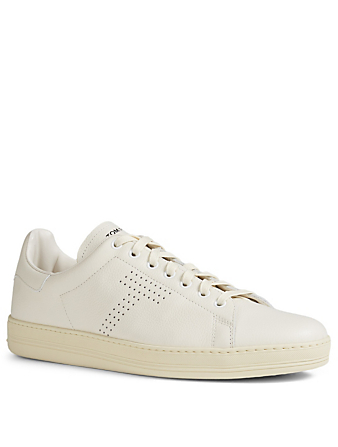 TOM FORD Warwick Grained Leather Sneakers Men's White