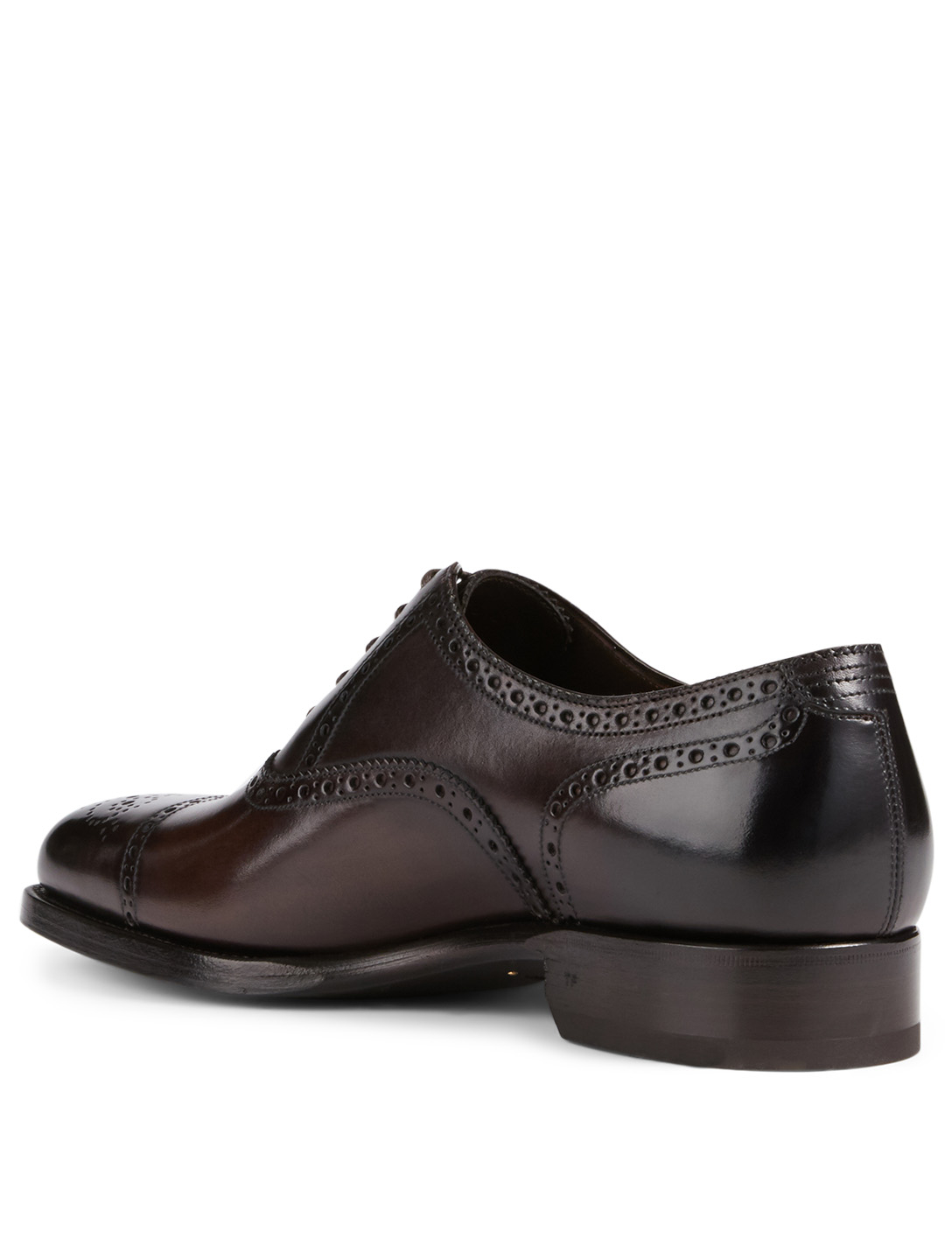 TOM FORD Gianni Leather Lace-Up Dress Shoes Men's Brown