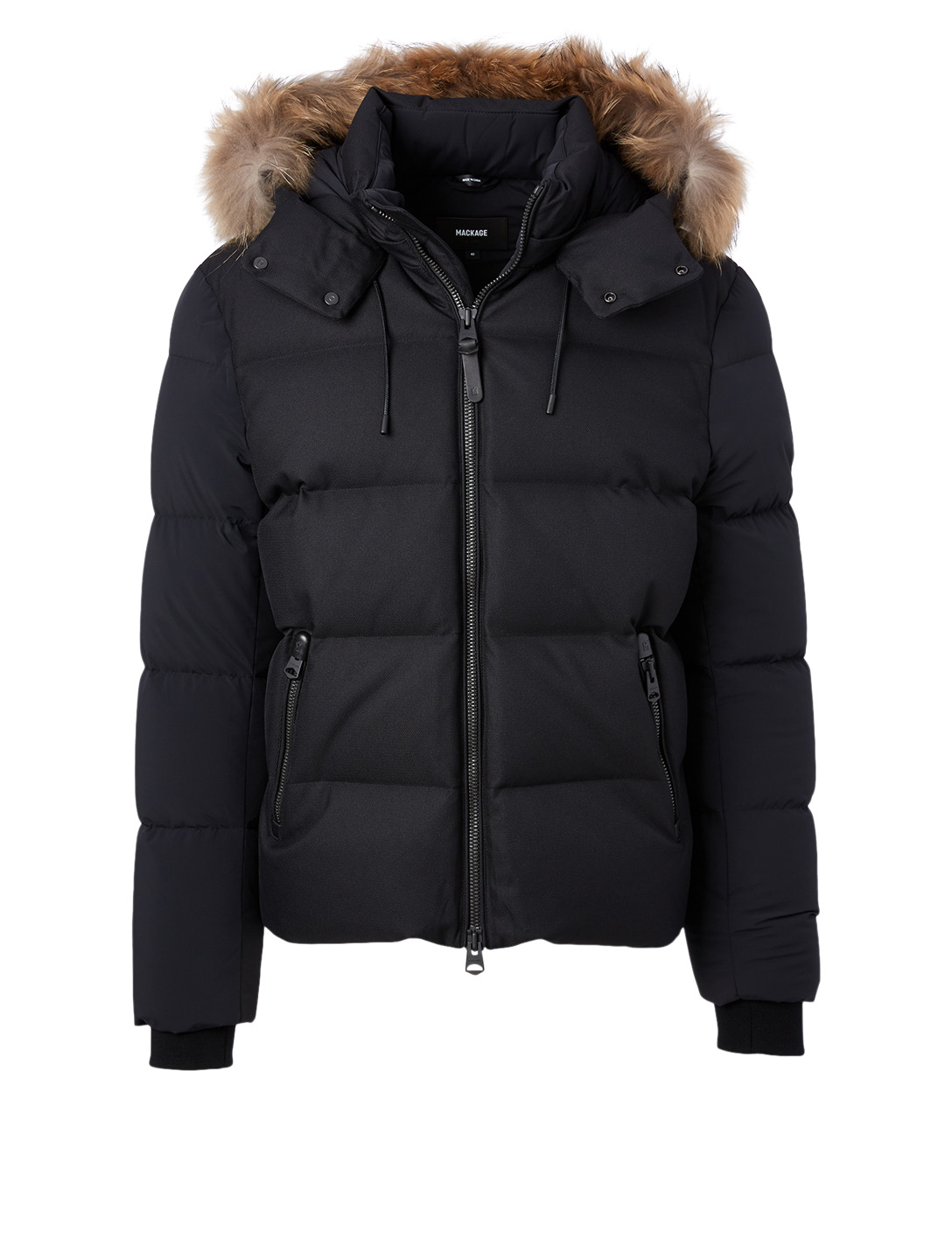 MACKAGE Randi Down Jacket With Fur Hood Men's Black