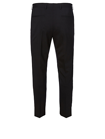 DOLCE & GABBANA Stretch Wool Pants With Crown Patch Men's Black
