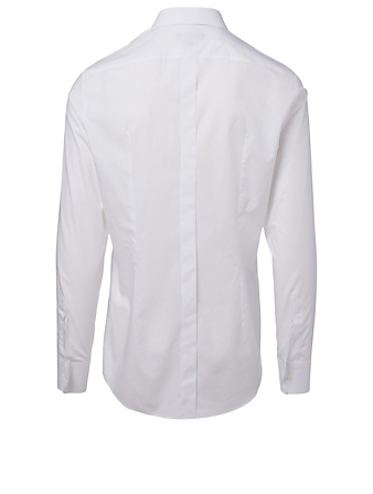 DOLCE & GABBANA Cotton Slim-Fit Shirt With Crown Patch Men's White