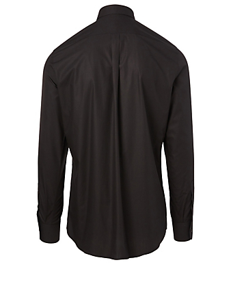 DOLCE & GABBANA Cotton Shirt With Heart Patch Men's Black