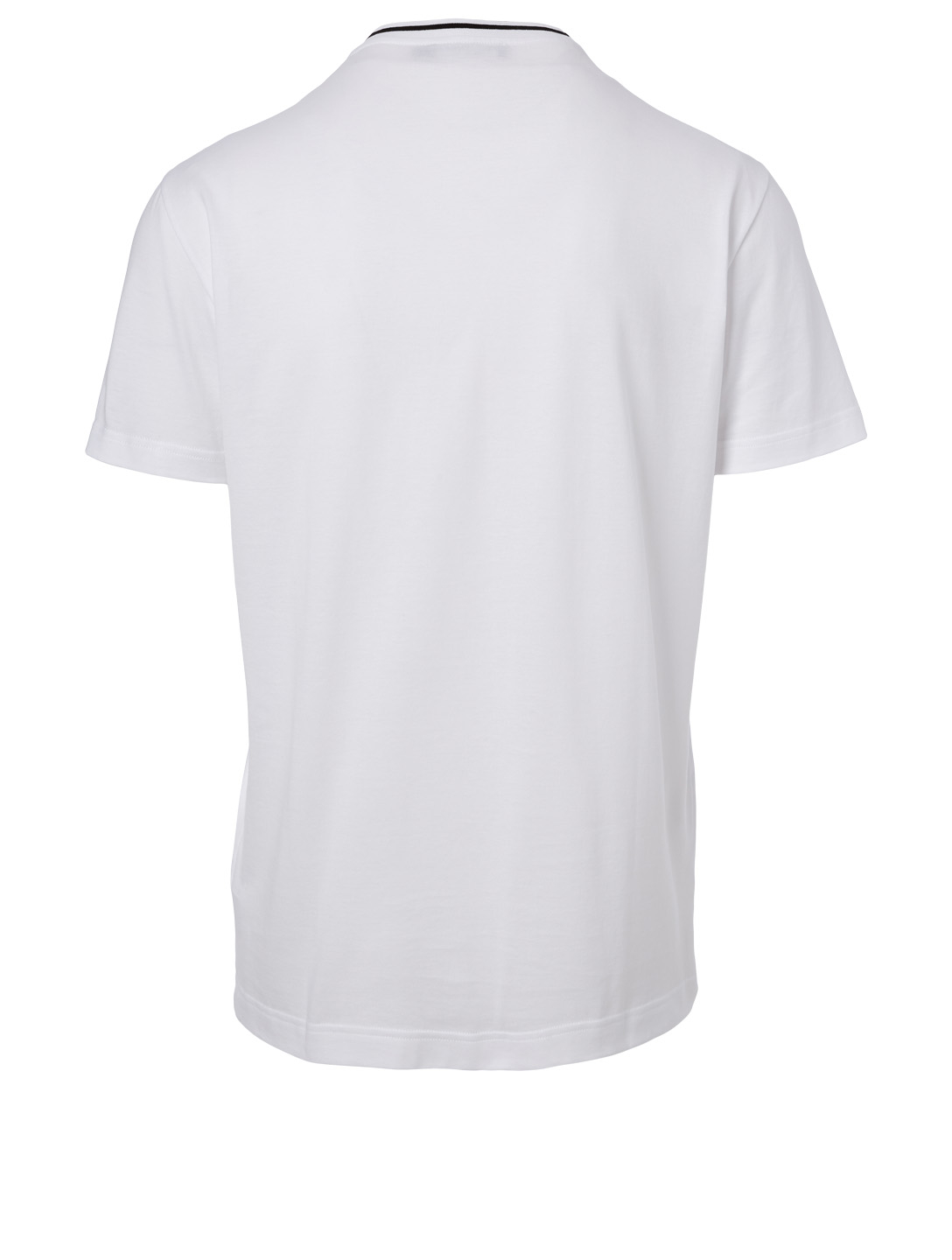 DOLCE & GABBANA Cotton Logo Tape T-Shirt Men's White