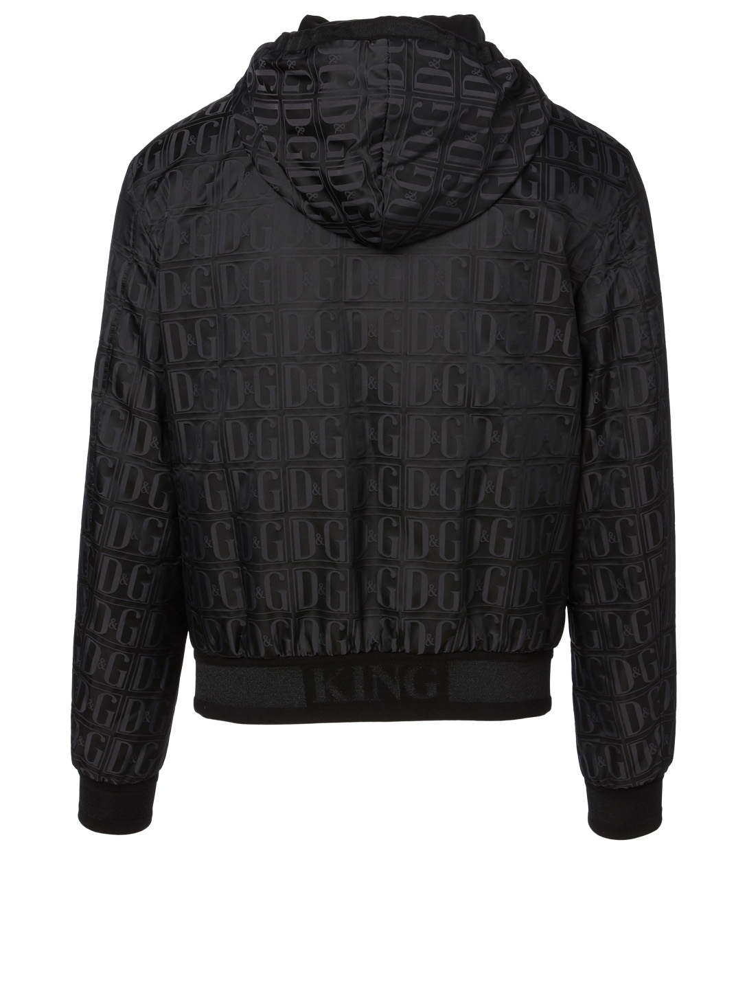 DOLCE & GABBANA Logo Jacket With Hood Men's Black