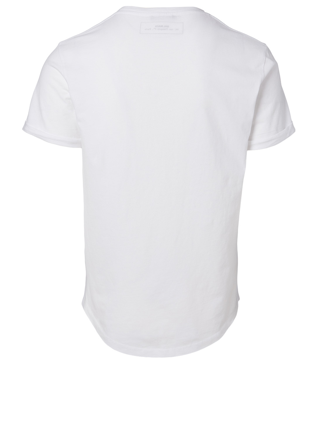 BALMAIN Cotton Medallion Logo T-Shirt Men's White