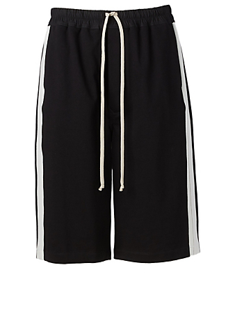 RICK OWENS Cotton Drawstring Shorts Men's Black