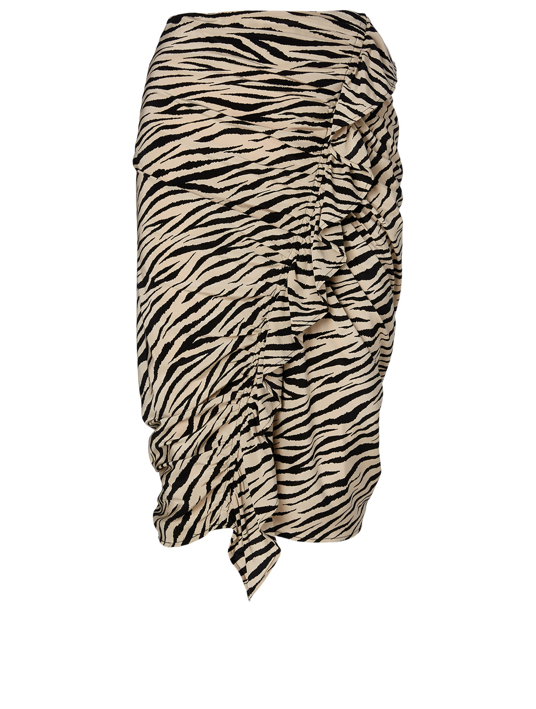 A.L.C. Metz Silk-Blend Skirt In Tiger Print Women's Multi