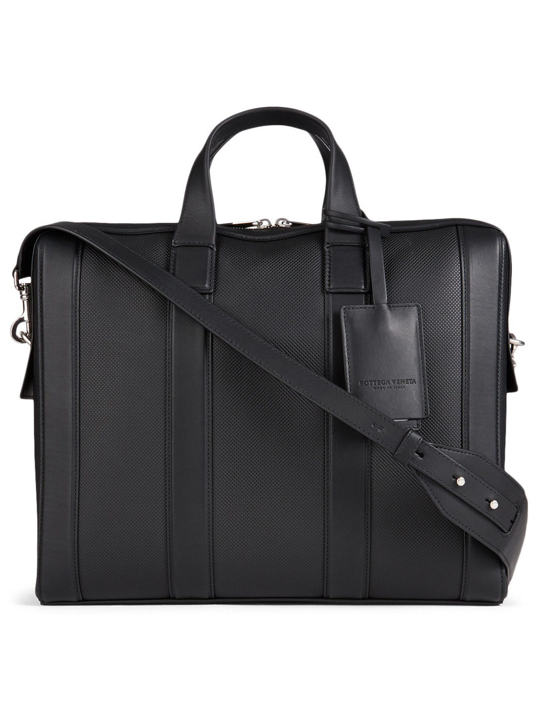 BOTTEGA VENETA Marcopolo Leather Briefcase Men's Black