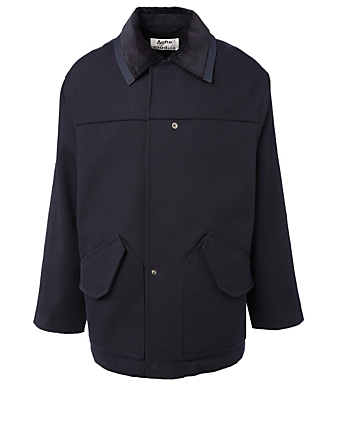 ACNE STUDIOS Cotton Twill Jacket Men's Blue