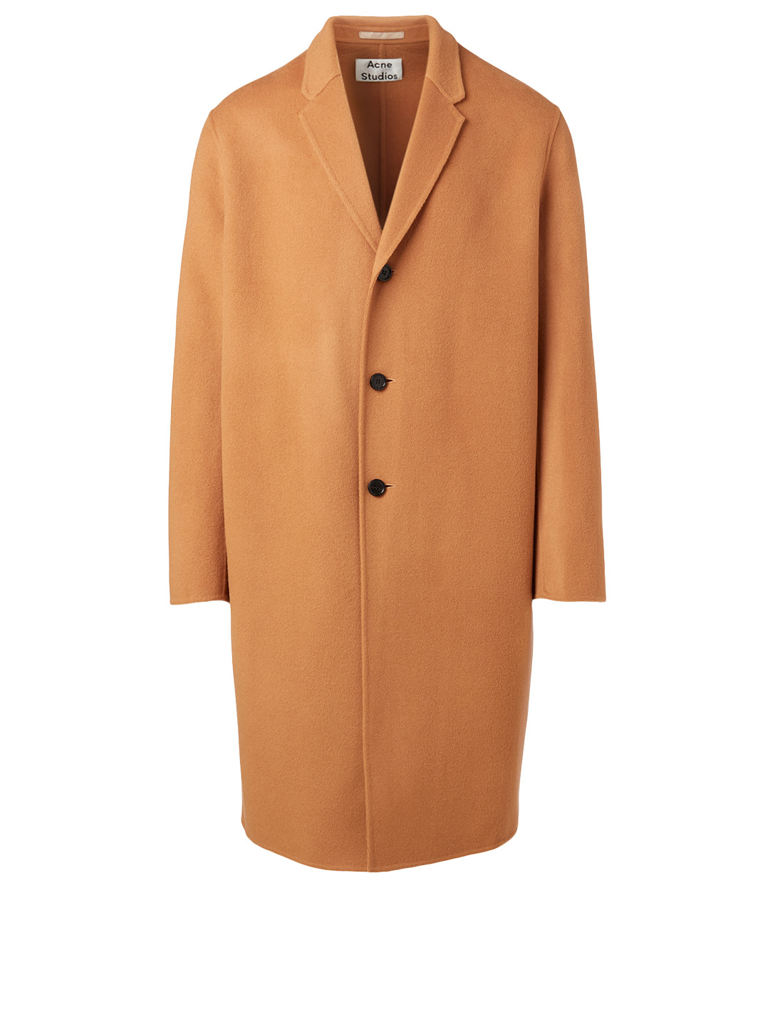 ACNE STUDIOS Wool And Cashmere Long Coat Men's Brown
