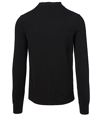 COMME DES GARÇONS PLAY Wool Cardigan With Two Hearts Men's Black