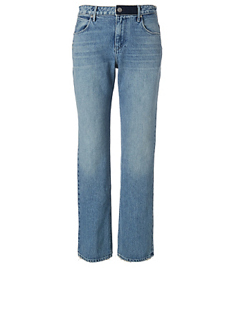 RTA Bonnie Cotton Boyfriend Jeans Women's Blue