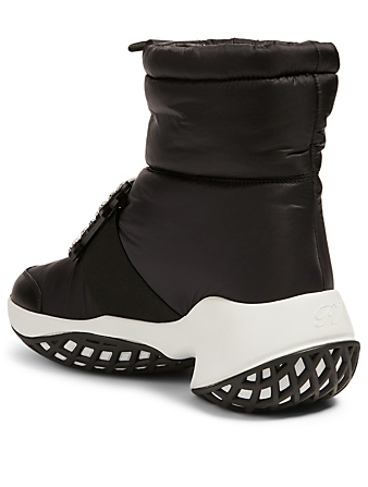 ROGER VIVIER Viv' Run Nylon Snow Boots Women's Black