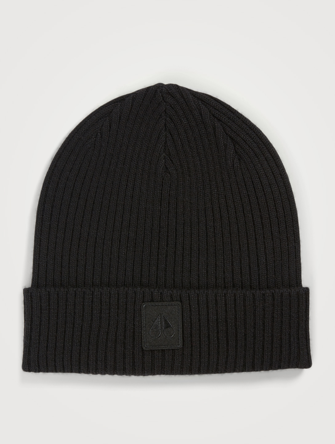MOOSE KNUCKLES Mariner Ribbed Wool Toque Men's Black