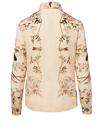 RED VALENTINO Silk Printed Blouse Women's White