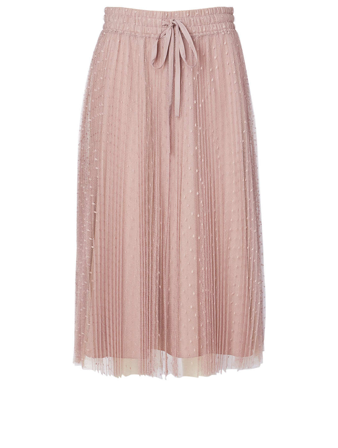 RED VALENTINO Pleated Tulle Midi Skirt Women's Purple