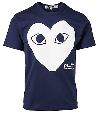 COMME DES GARÇONS PLAY Graphic Heart Logo T-Shirt Men's Blue