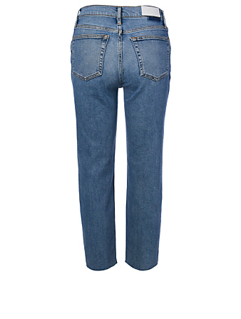 RE/DONE High-Rise Stove Pipe Jeans Women's Blue