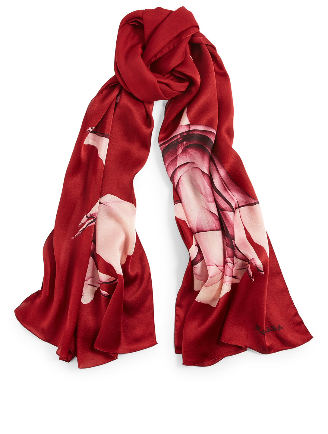 MAX MARA Rasetto Silk Scarf In Floral Print Women's Red