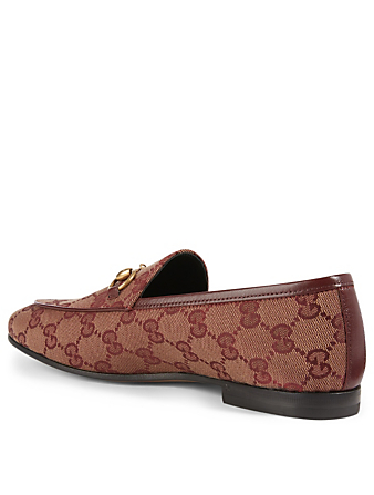 GUCCI Jordaan GG Canvas Loafers Women's Purple